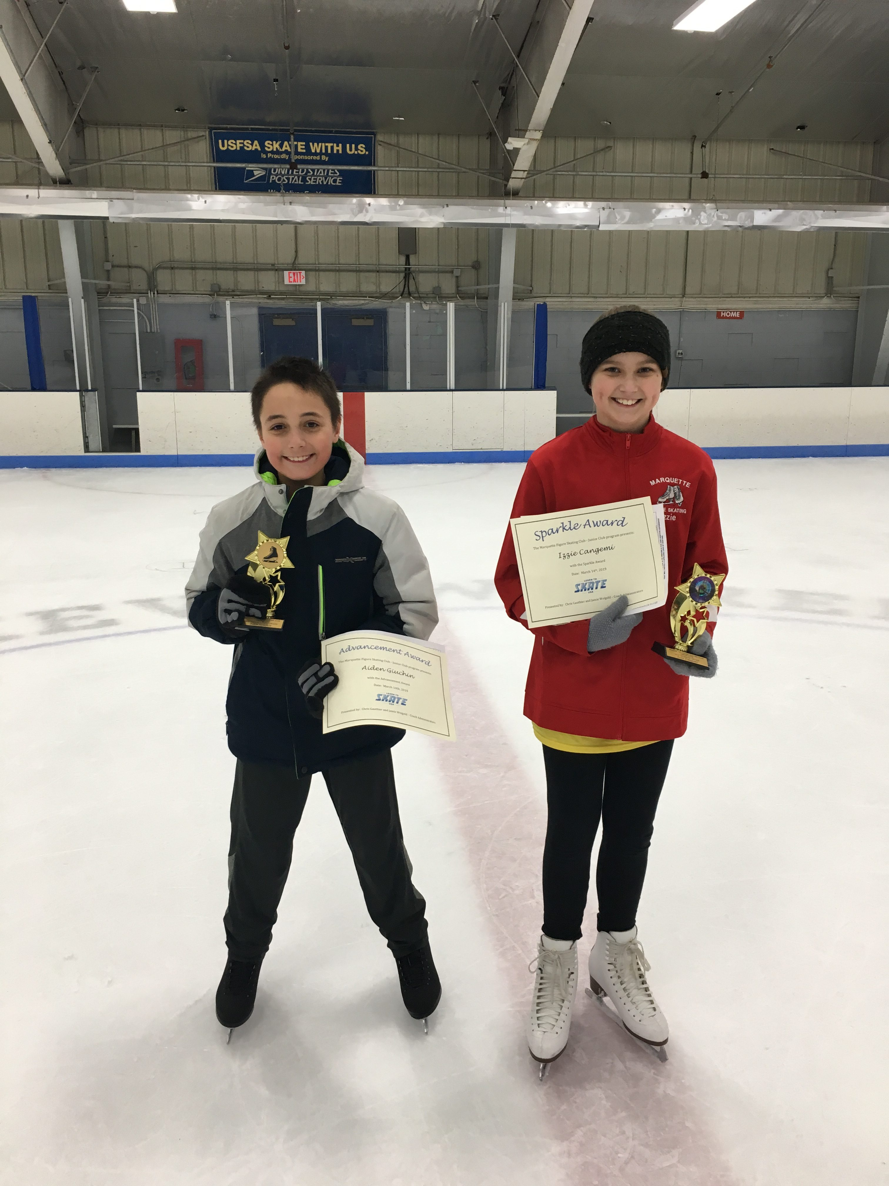 Learn to Skate March 2019, Aiden Giuchen Advancement, Izzie Cangemi Sparkle